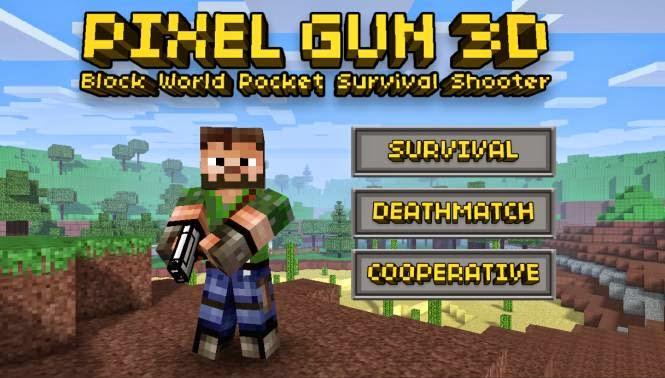 pixel gun 3d apk obb mega